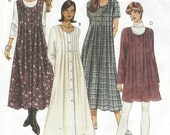 90s Womens Lagenlook Dress or Jumper Mini or Midi Length McCalls Sewing Pattern 7974 Size 12 14 16 Bust 34 36 38 UnCut