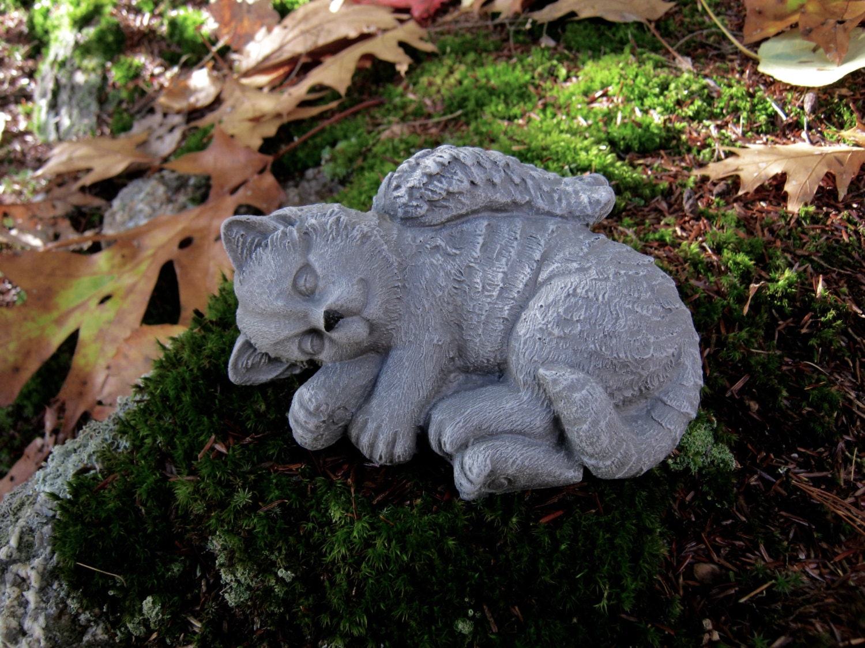 Cat Angel Concrete Statues Pet Memorial Cat Statues Pet