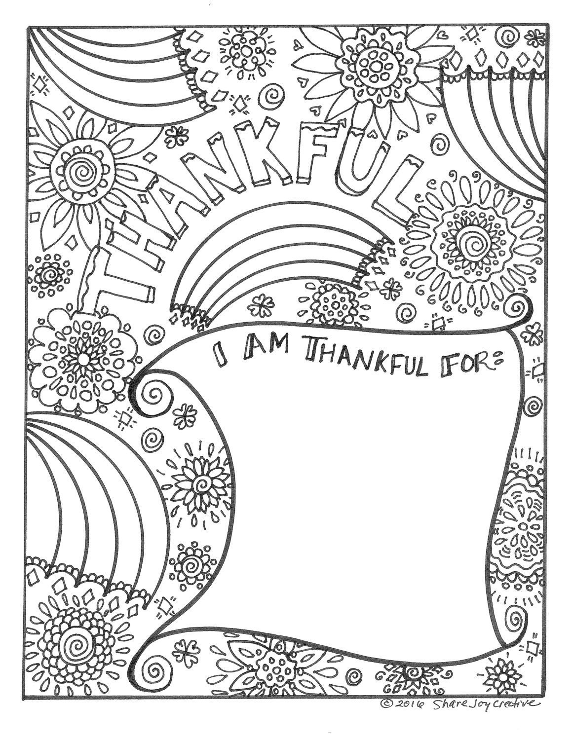 grateful coloring pages - photo#12