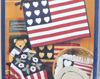 Flags - The Little Quilt Collection Pattern, by Little Quilts, Vintage 1986