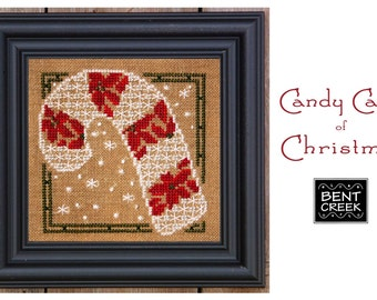 NEW Candy Cane of Christmas cross stitch pattern kit by Bent Creek at thecottageneedle.com holidays December 25 Winter