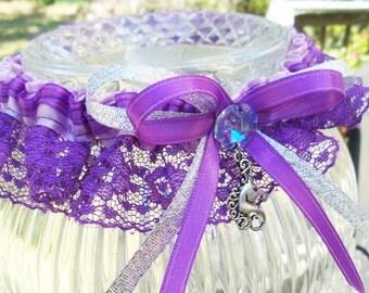 Bridal Garter, Fairytale Wedding, Unicorn Costume, Fantasy Wedding, Handfasting, Pagan Wedding, Prom Garter, Unicorn Wedding, Brony Costume