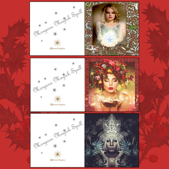 Yule Goddess Cards - Printable