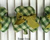 Primitive Shamrock ornaments | Shamrock bowl fillers | Shamrock ornaments | St. Patricks Day shamrocks  | Irish decorations