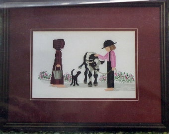 Amish Counted Cross Stitch Pattern HERE COMES Milk For US Diane Graebner Artwork By Lynn's Prints
