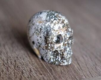 Ocean Jasper Stone Carved Crystal Skull