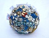 Bespoke Button Brooch & Jewellery Wedding Bridal Bouquet