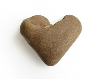 Heart Shaped Pebble - River Beach Stone - Valentines Day Romantic Gift