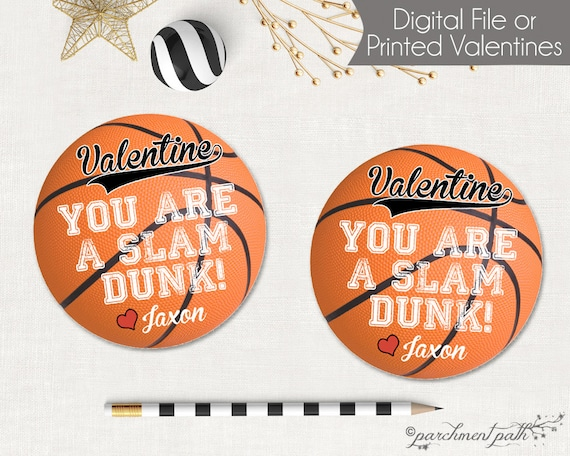 Basketball Valentines Youre a Slam Dunk Basketball – Basketball Valentine Cards