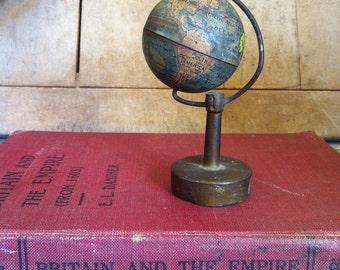 Antique German Tin Globe Pencil Sharpener