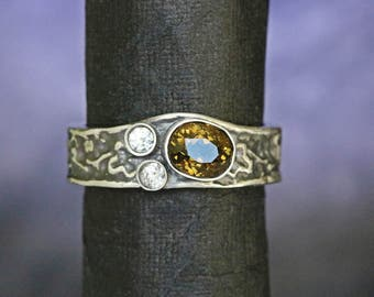 tourmaline engagement ring yellow tourmaline engagement ring tourmaline  ring diamond engagement ring ring moissanite engagement ring  TOU2Y