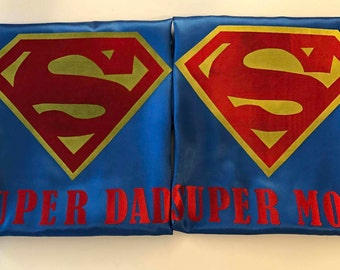 PERSONALIZED SUPERHERO Logo Cape! Custom Capes and Sparkly Glitter Capes in any Superhero Style you want!