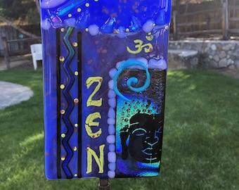 Glass fusion ZEN buddha yard art