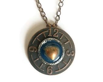 Steampunk Copper  Necklace
