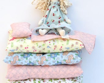 The Princess and the Pea cloth doll rag doll playset fabric doll fairy tale princess doll softie plush doll birthday gift for girls