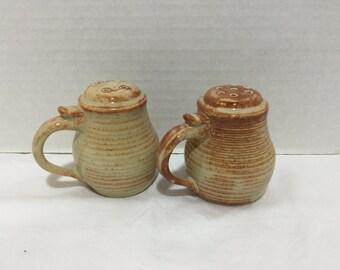 Stoneware Salt & Pepper Shakers
