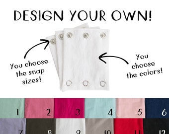 BODYSUIT EXTENDERS - Design your custom onesie / bodysuit extender. Also great for cloth diaper babies! Fits Carter's and all major brands!
