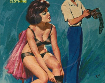 Transvestite - 10x16 Giclée Canvas Print of Vintage Pulp Paperback