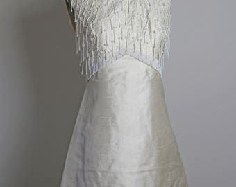 1960s Beaded Silk Dress