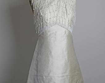1960s Beaded Silk Dress
