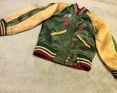 Bomber Jacket Child's Japan Reversible Embroidered