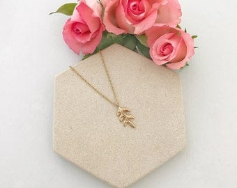 Gold leaf necklace, Gold leaf wedding necklace, gold leaf bridal necklace
