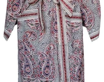 Long Kimono - Russian Paisley Ink - free size