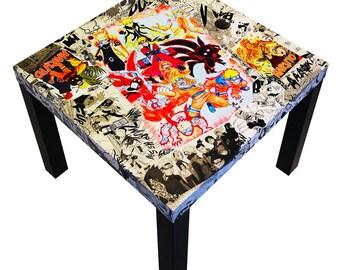 Naruto Shippuden Manga Collage Table FREE SHIPPING USA