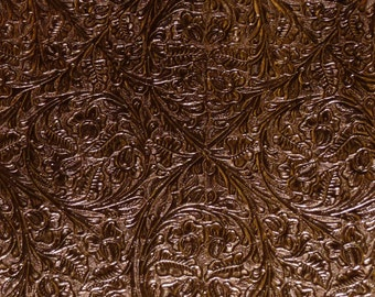 """Leather 12""""x12"""" Metallic BRONZE Western CIRCLE Cowhide 2-2.5 oz/.8-1 mm PeggySueAlso™ E2812-02"""