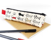 Cat Pencil Case Accessory Storage Cat Lover Gift Cute Cats Fabric Pencil Pouch