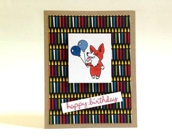 Corgi Birthday Card - Puppy Birthday Card - Dog Birthday Card - Cute Boy Birthday Card - Fun Happy Birthday Card - Dad Happy Birthday Card