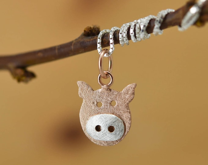 Pig Pendant, Pig Necklace, Pig Jewelry, Pig Charm, 925 Sterling Silver, Bridesmaid Gift, Best Friend Gift, Gift for her