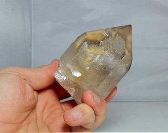 Brazilian Clear Quartz Mineral Terminated Quartz Crystal 468 grams Lemurian Seed Lines 4.37 inch Minas Gerais Brazil DanPickedMinerals