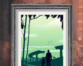 The Last of Us Game Art Poster Print - Travel Poster - Video Game Poster - Minimalist Art Print