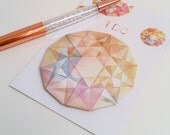 Yellow Watercolour Gemstone Sticky Notes