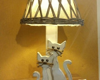"""Table lamp """"Cats"""""""