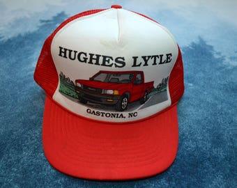 Vintage 80s Hughes Lyttle Trucker Truck Gastonia NC Snapback Baseball Hat