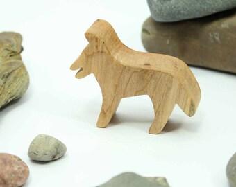 Toy Jackal, Dog Toy, Jackal Toy, African Animal Toy, Wood Animal Toy, Natural Wood Toy, Wooden Toy, Toy for Boys, Safari Animal, Noahs Ark