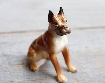 Miniature Boxer Dog, Adorable Boxer Figurine, Dog Lover Gift, Vintage Hagen Renaker