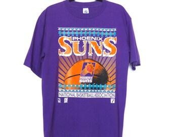 1990s Phoenix Suns Basketball Shirt TShirt Logo 7 Retro 90s NBA