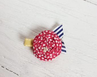 rolled rosette hair clip girl hair clip baby hair clip matilda jane hair clips little girl gift toddler hair clip rolled flower clip