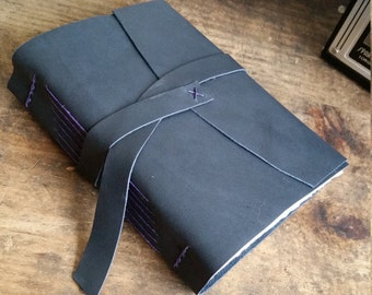 Handmade Leather Journal, Dark Gray 4.75 x 6 Journal by The Orange Windmill on Etsy 1790