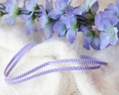Double purple braid choker necklace | Bohemian boho festival jewelry | Multi strand choker |