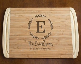 Personalized Engraved Cutting Board (Large): Wedding Cutting Board, Bridal Shower Gift, Unique Wedding Gift, Gift for Bride Groom SHIPS FAST