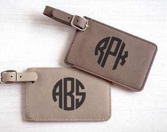 Monogrammed Luggage Tag:  Bridesmaid Luggage Tags, Bridal Party Luggage Tags, Monogram Luggage Tag, Personalized Luggage Tags, SHIPS FAST