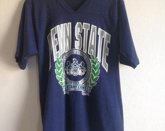 Penn State Raglan Crest V Neck Vintage T-Shirt