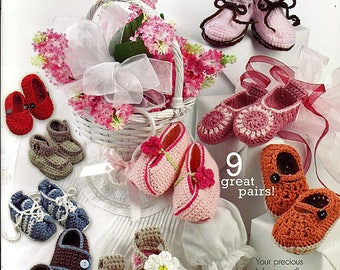 Beautiful Baby Shoes Crochet Baby Pattern Book Annie's Attic 871035