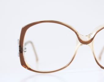 Vintage French Drop Coffee Eyeglass Frames