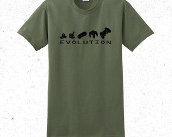Gaming t shirt mens - evolution of game controllers