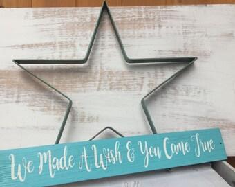 16 Inch Aqua and Rust Metal Star/Nursery or Baby's Room Star/Twinkle Twinkle Little Star/Farmhouse Rustic Home Decor Star